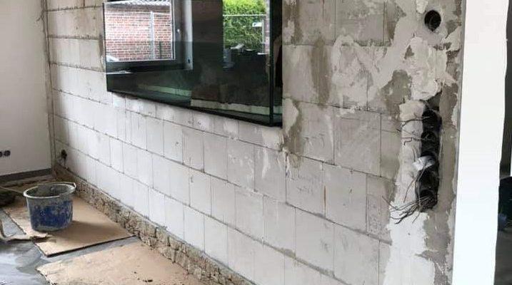 בניית אקווריום בקיר