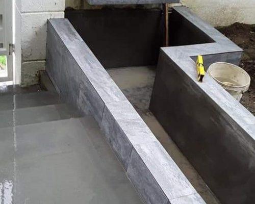 בניית בריכת דגים מבטון