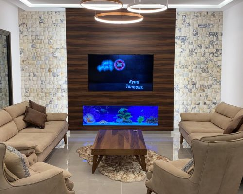 בניית אקווריום מתחת לטלויזיה
